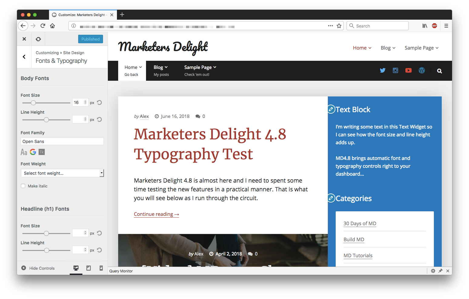 WordPress Live Preview Designer